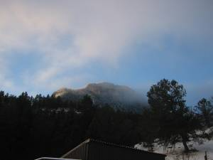 Mt. Herman from my cabin