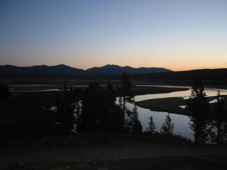 Dawn in Yellowstone