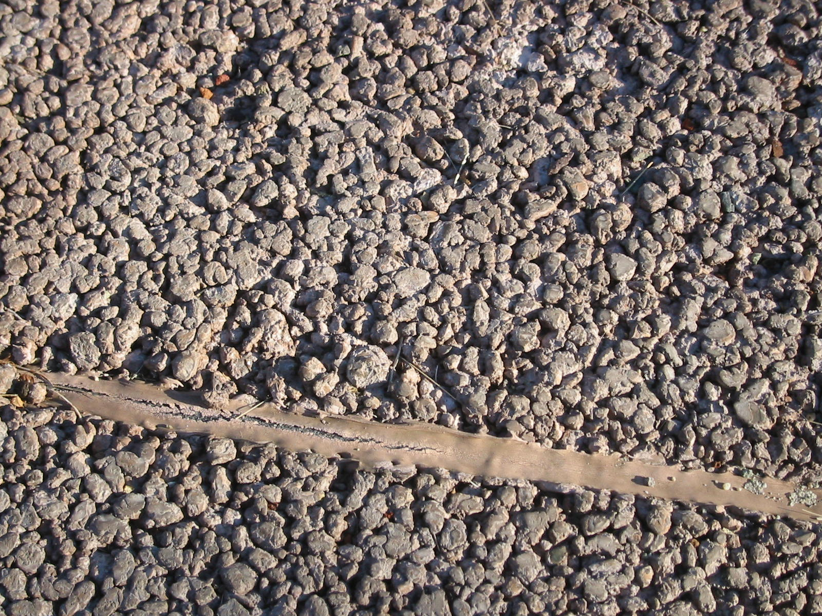Permeable concrete closeup