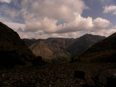 View from near the end of the dirt road in my valley