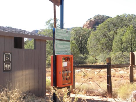 Parking pay stations are at some of the trailheads