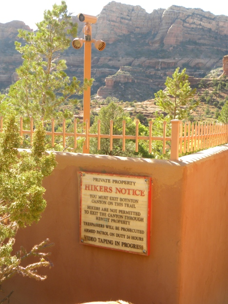 Private golf course abutts a Widerness area in Sedona