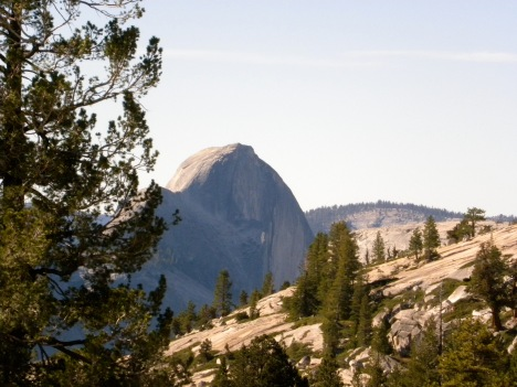 View from the pass of Half Dome