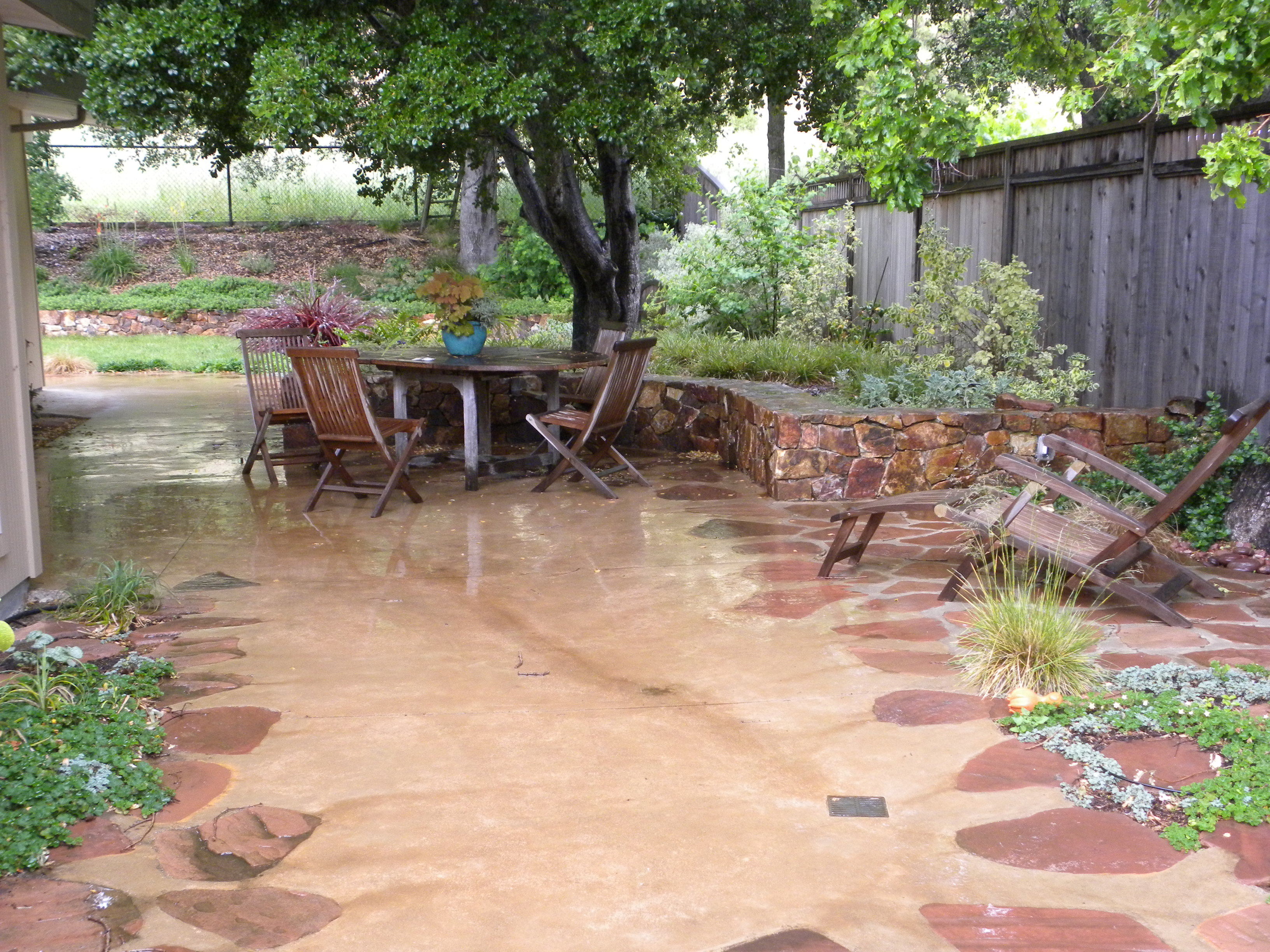 concrete patio ideas | the human footprint - Ideas For A Concrete Patio