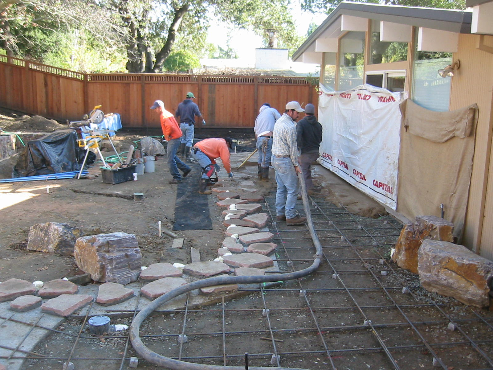 Concrete patio ideas the human footprint - Concrete backyard design ...