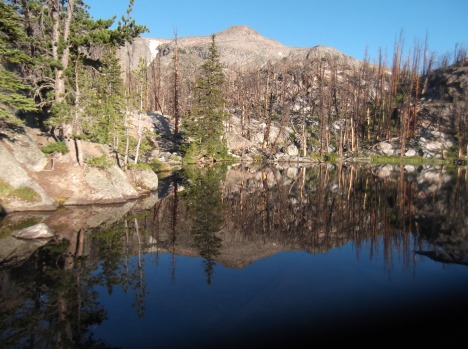 Phillips Lake was heavily burned