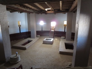 This is a kiva at Aztec Ruins that was reconstructed.