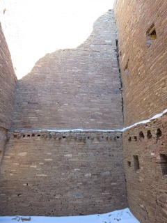 Exquisite walls by master builders at Chaco could be over 4 stories high