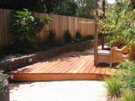 Decomposed Granite leads to a deck